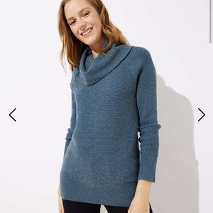 Loft S heathered cowl neck sweater